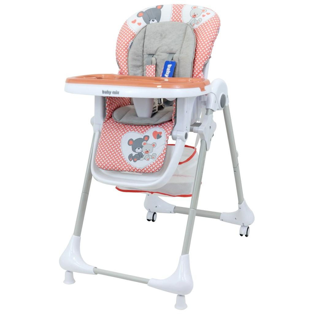 Jídelní židlička Baby Mix Infant pink - růžová