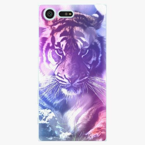Plastový kryt iSaprio - Purple Tiger - Sony Xperia X Compact