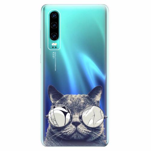 Silikonové pouzdro iSaprio - Crazy Cat 01 - Huawei P30