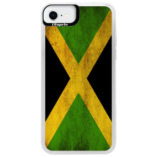 Neonové pouzdro Blue iSaprio - Flag of Jamaica - iPhone SE 2020