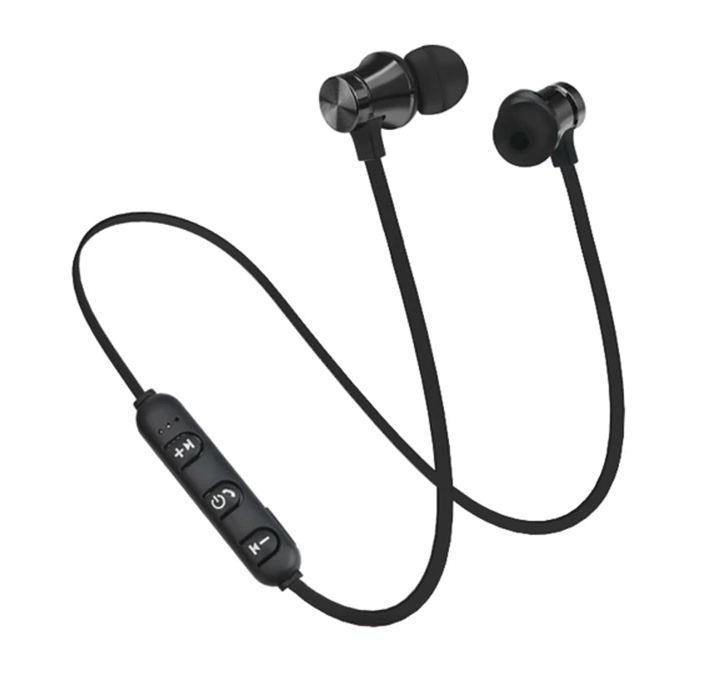 Bluetooth sluchátka na magnet - Černo-metalová