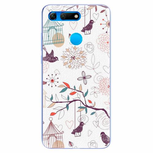 Silikonové pouzdro iSaprio - Birds - Huawei Honor View 20