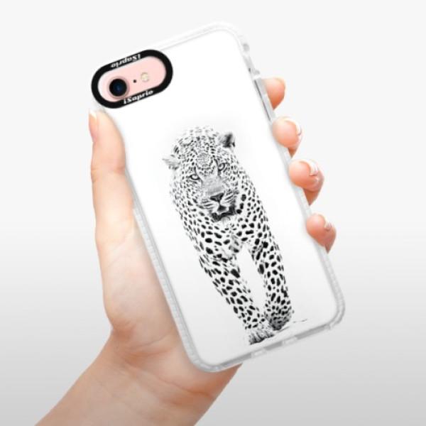 Silikonové pouzdro Bumper iSaprio - White Jaguar - iPhone 7