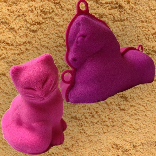 3D formičky velké - zvířátka - kočka, poník
