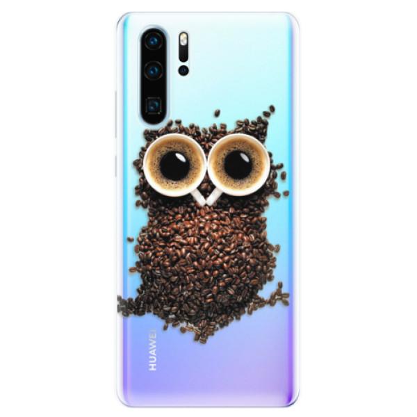 Odolné silikonové pouzdro iSaprio - Owl And Coffee - Huawei P30 Pro