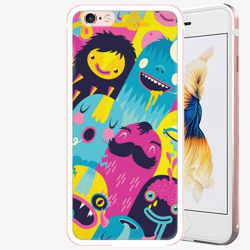 Plastový kryt iSaprio - Monsters - iPhone 6 Plus/6S Plus - Rose Gold
