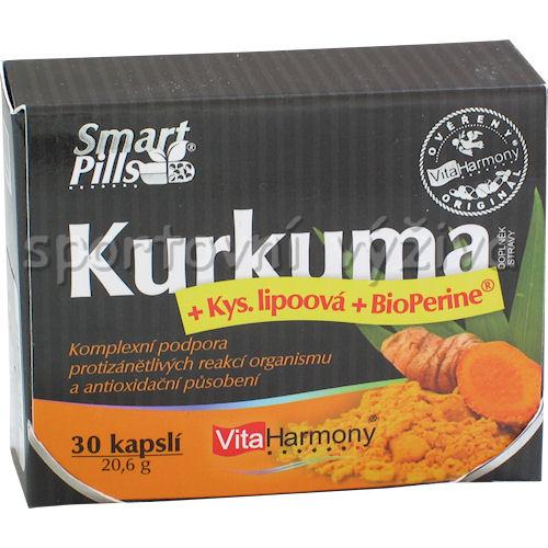 SmartPills Kurkuma + ALA 30 kapslí