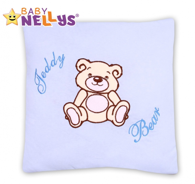 Polštářek 40x40 Teddy Bear - sv. modrý