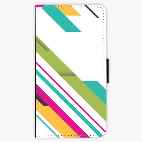 Flipové pouzdro iSaprio - Color Stripes 03 - Lenovo Moto G5
