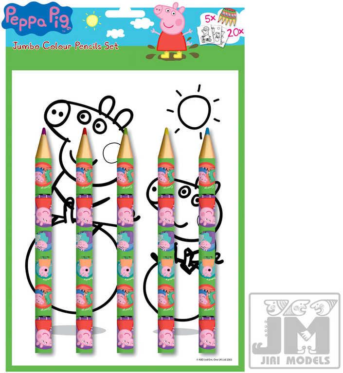 JIRI MODELS Omalovánky + velké pastelky sada prasátko Peppa Pig