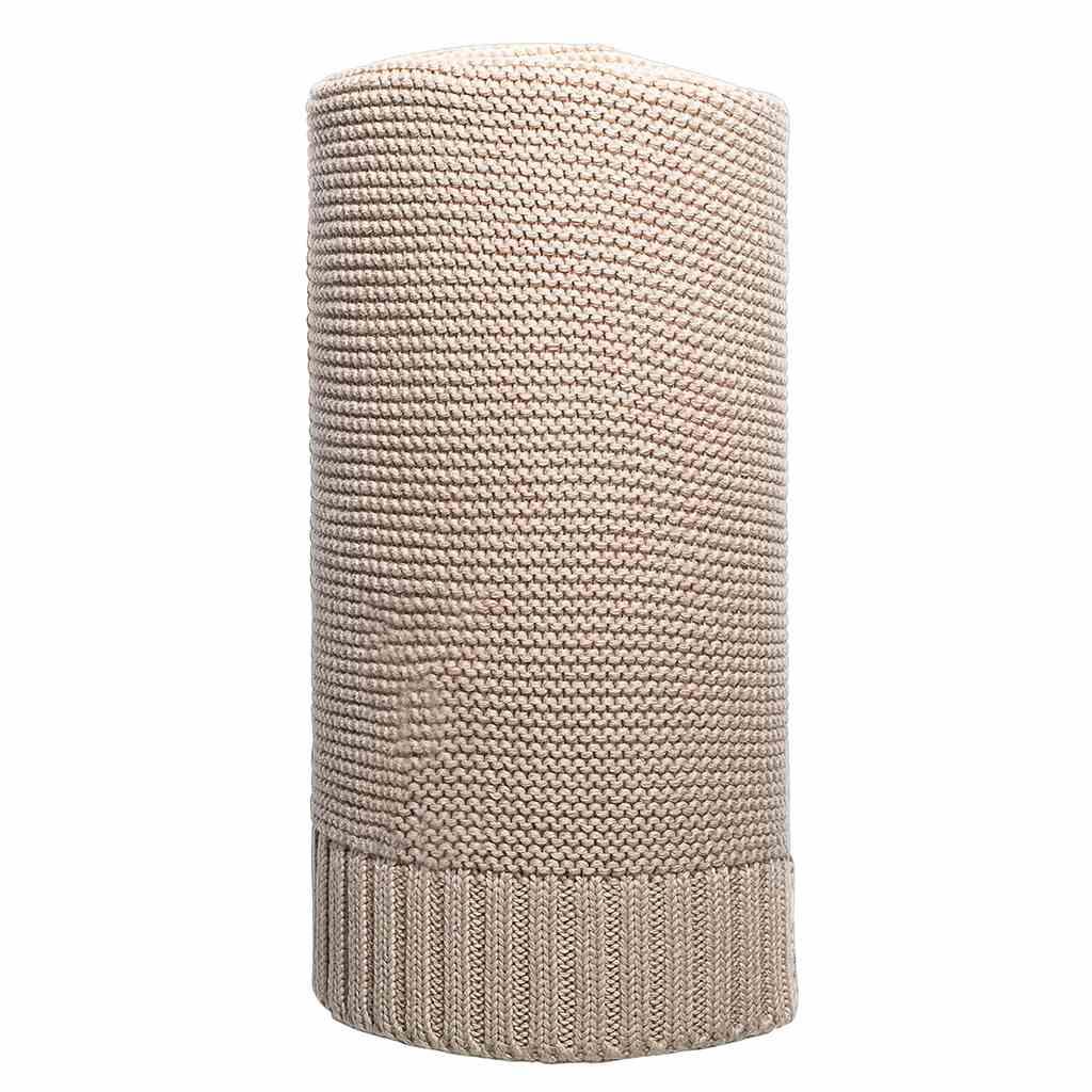 Bambusová pletená deka NEW BABY 100x80 cm - béžová