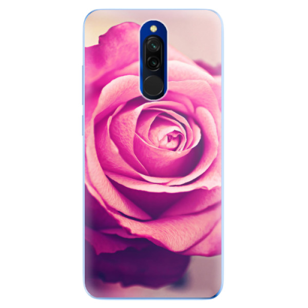 Odolné silikonové pouzdro iSaprio - Pink Rose - Xiaomi Redmi 8