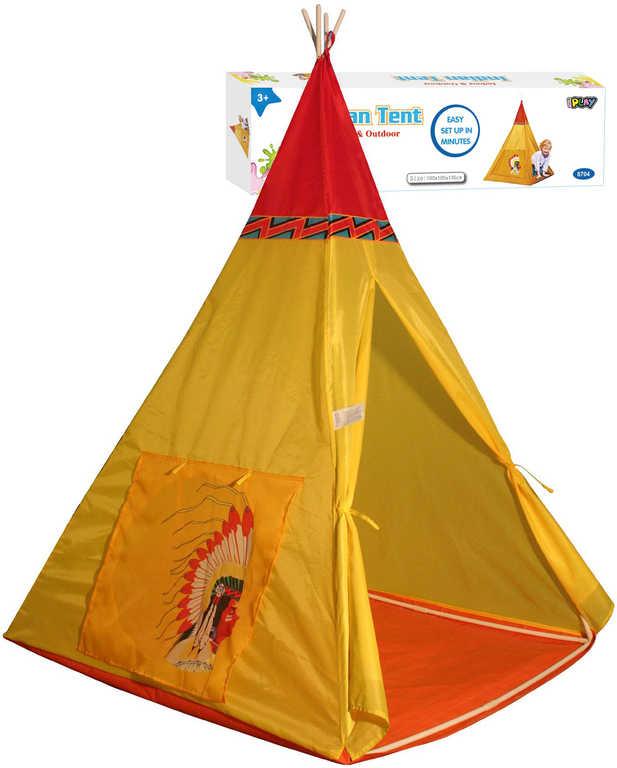 Stan dětský indiánský teepee 100x135x100cm v krabici