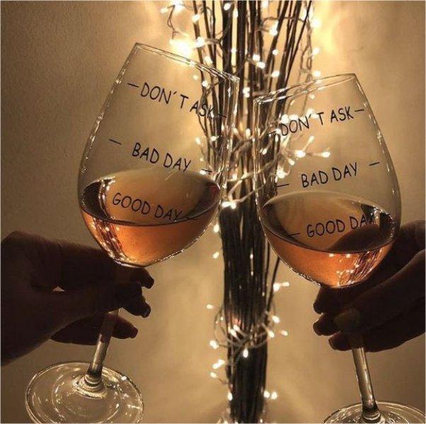 Sklenice na víno Bad day