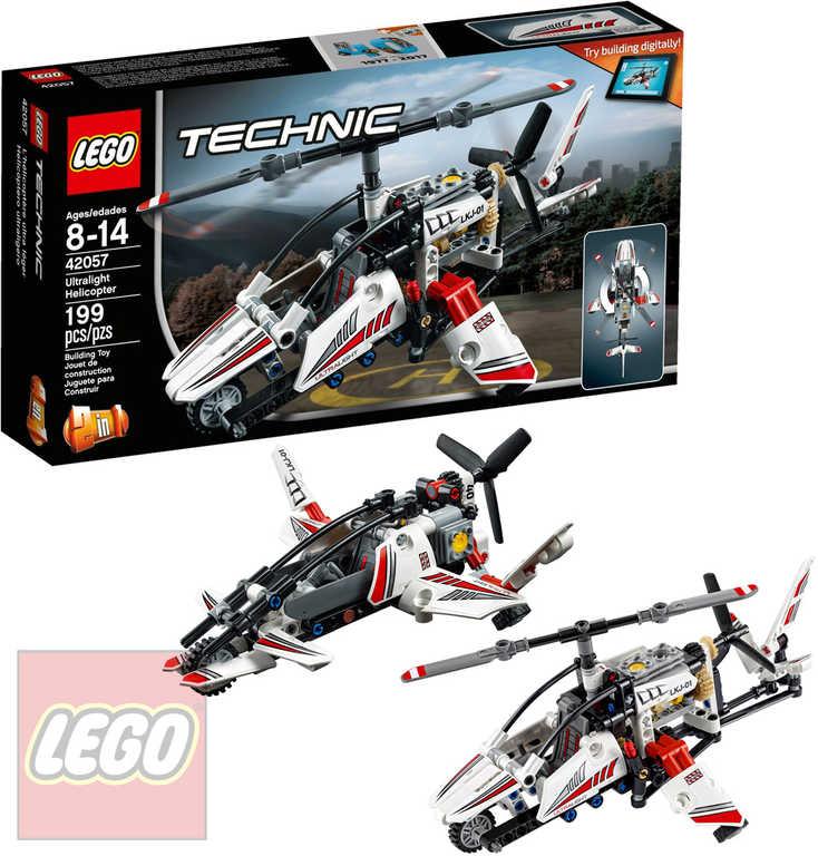 LEGO TECHNIC Ultralehká helikoptéra 2v1 42057 STAVEBNICE