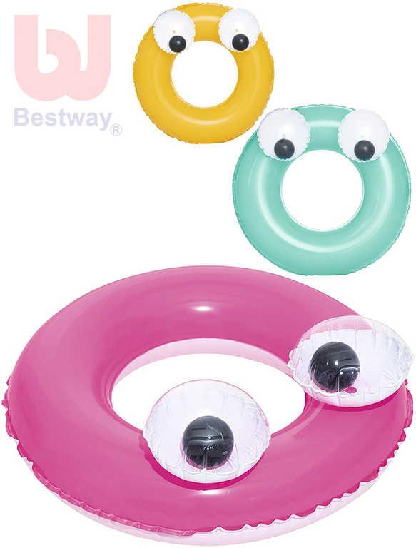 BESTWAY Kruh dětský nafukovací 61 cm s očima plavací kolo