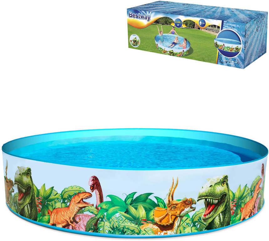 BESTWAY Bazén dětský samostojný kulatý 183x38cm dinosauři 55022