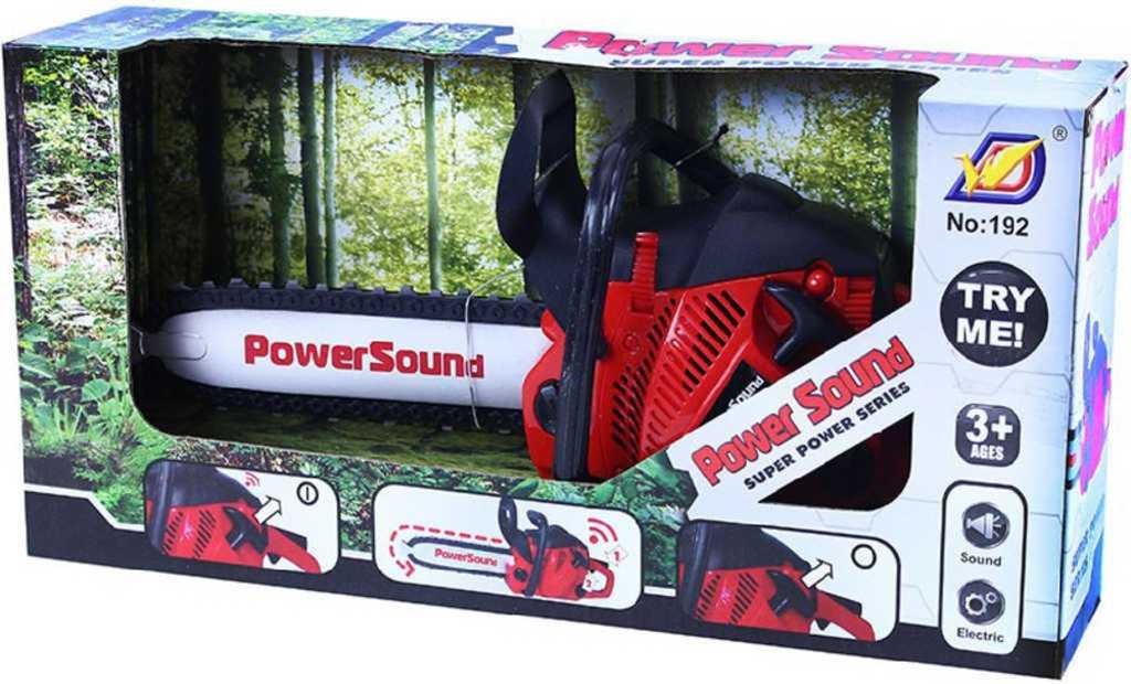 Pila řetězová motorová dětská 36cm na baterie plast Světlo Zvuk
