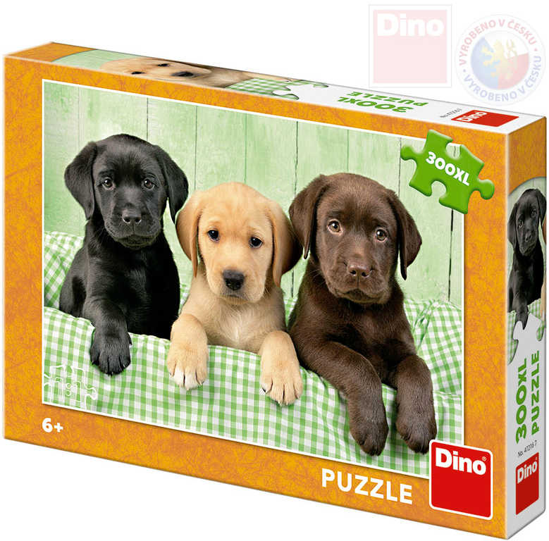 DINO Puzzle 300 dílků XL Psí bratři 47x33cm foto skládačka v krabici