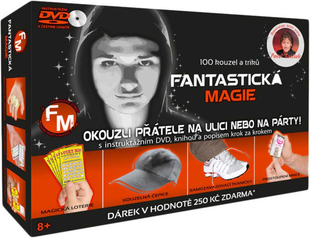 Fantastická magie kouzelnická sada 100 kouzel a triků s instruktážním CD