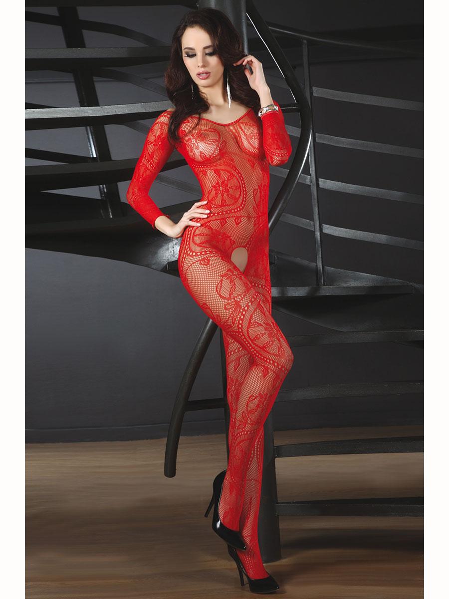 Luxusní body Abra - červená-S/L