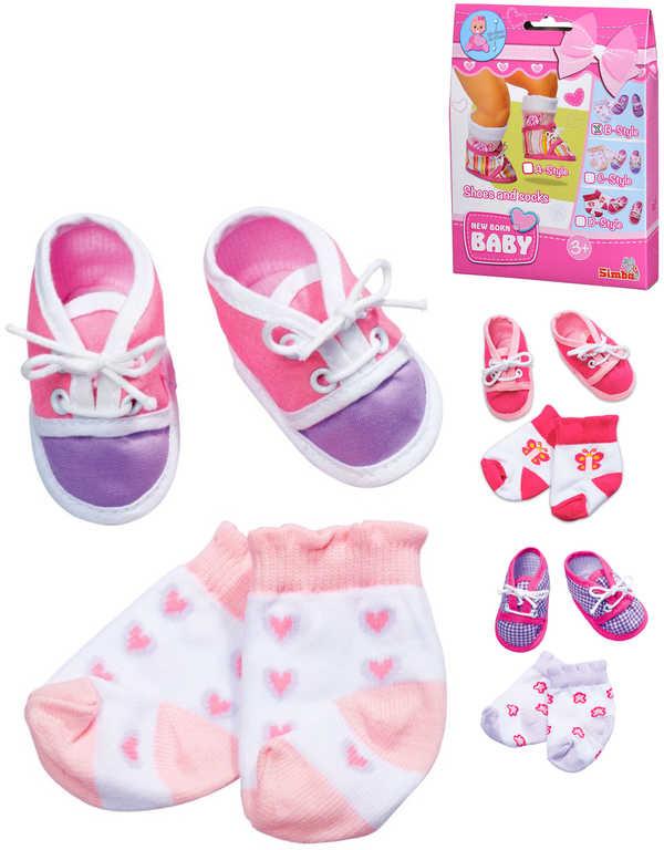 SIMBA set ponožky a botičky vel. 38-43 pro panenku New Born Baby