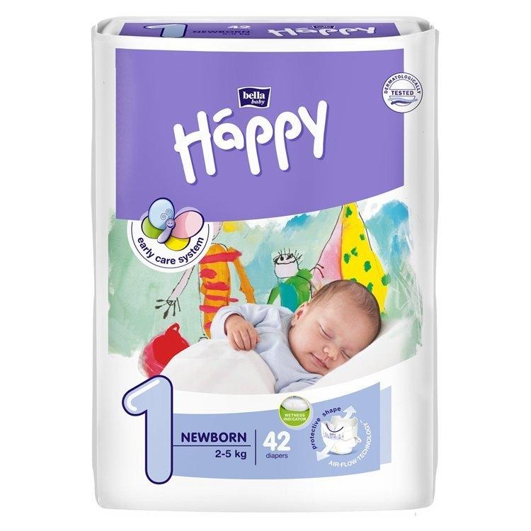 Baby Happy 1 Newborn jednorázové plenky 2-5kg 42 ks