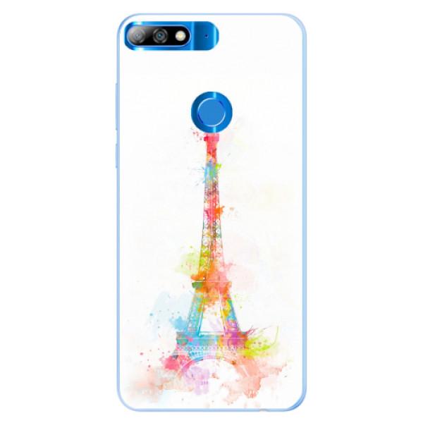 Silikonové pouzdro iSaprio - Eiffel Tower - Huawei Y7 Prime 2018