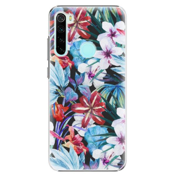 Plastové pouzdro iSaprio - Tropical Flowers 05 - Xiaomi Redmi Note 8