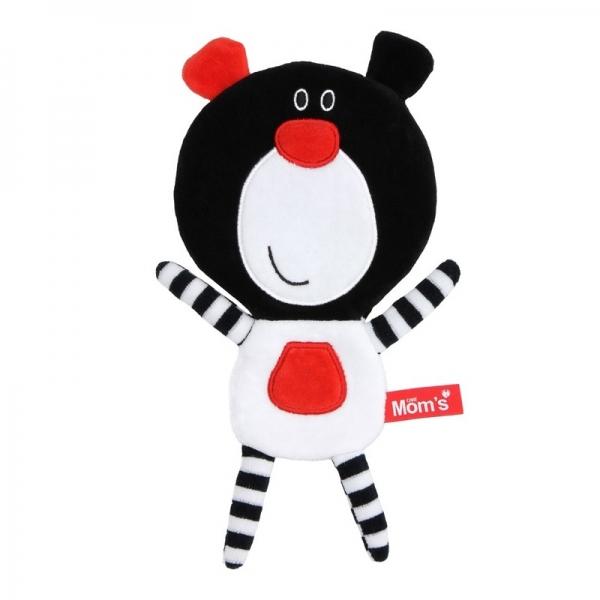 Hencz Toys Edukační hračka Méďa šustík - černý