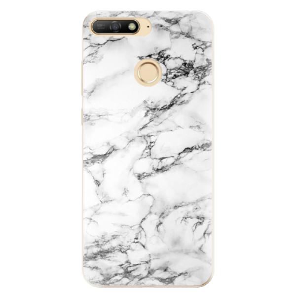 Odolné silikonové pouzdro iSaprio - White Marble 01 - Huawei Y6 Prime 2018