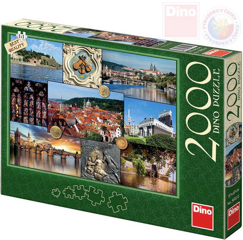DINO Puzzle 2000 dílků Praha 97x69cm skládačka v krabici