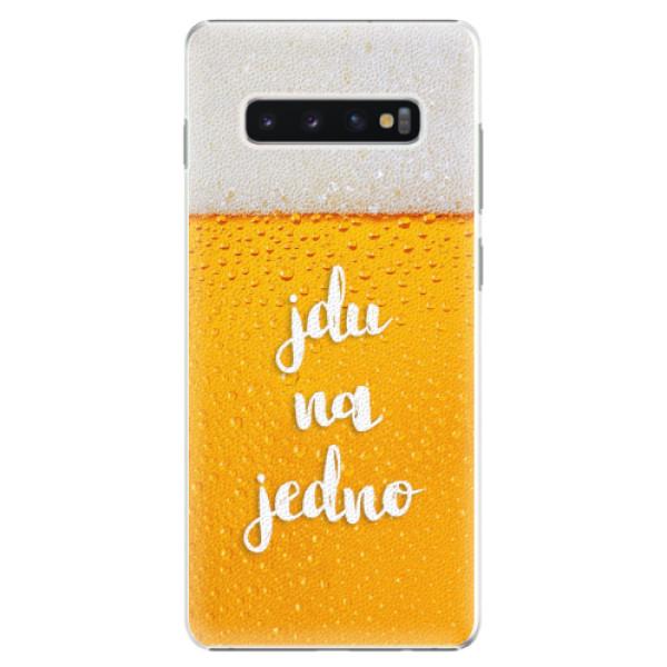 Plastové pouzdro iSaprio - Jdu na jedno - Samsung Galaxy S10+
