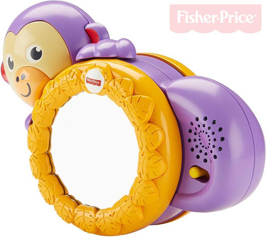 FISHER PRICE Baby opička kutálející se na baterie pro miminko