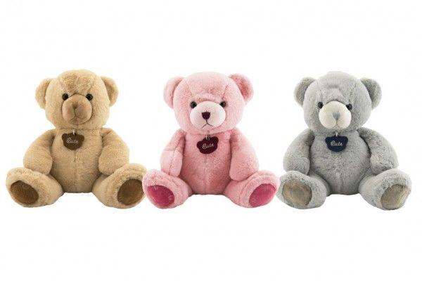 Medvěd plyš 40 cm 3 barvy v sáčku 0+