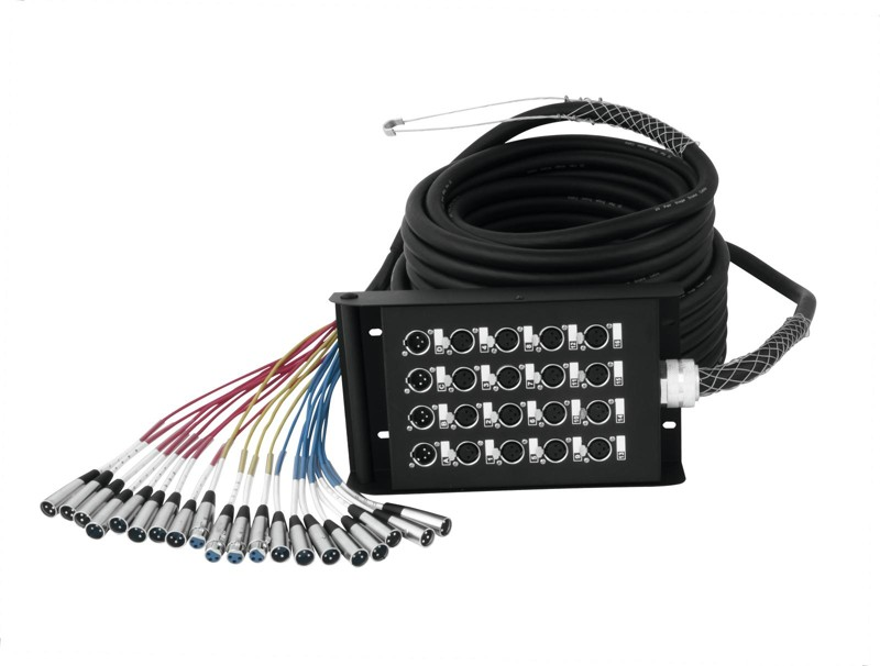 Multicore kabel se Stage boxem 16 IN/4 OUT XLR, 30 m