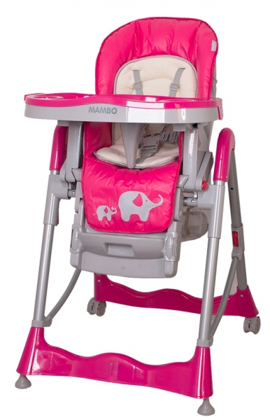 Jídelní židlička Coto Baby Mambo 2017 Hot Pink - Sloníci