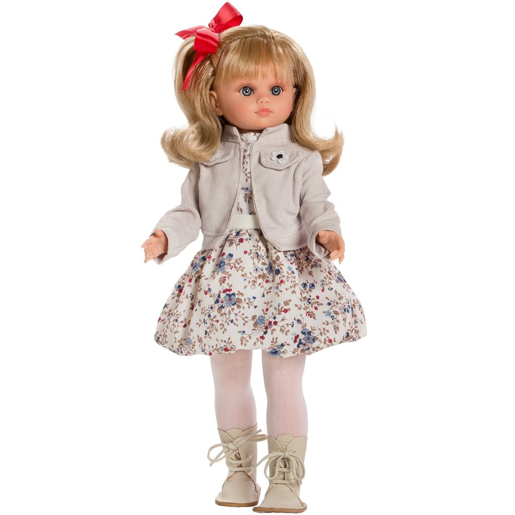 Luxusní dětská panenka-holčička Berbesa Laura 40cm - béžová