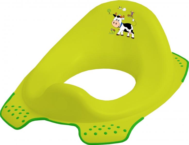 Keeeper Adaptér - treningové sedátko na toaletu Funny Farm - zelený