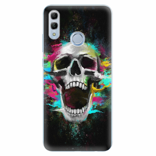 Silikonové pouzdro iSaprio - Skull in Colors - Huawei Honor 10 Lite