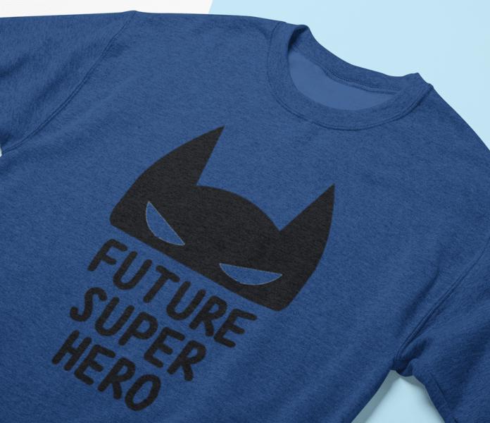 KIDSBEE Super dětská klučičí mikina Super Hero - tm.