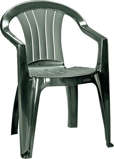 Zahradní plastová židle SICILIA - tmavě zelená
