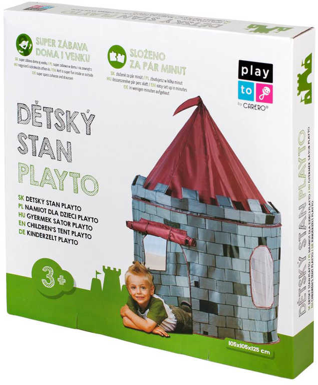 CARERO Stan dětský rytířský hrad 105x125cm v krabici