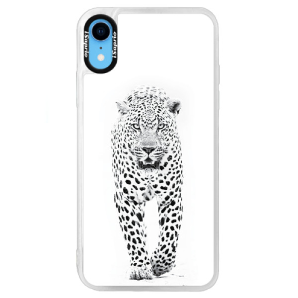 Neonové pouzdro Blue iSaprio - White Jaguar - iPhone XR