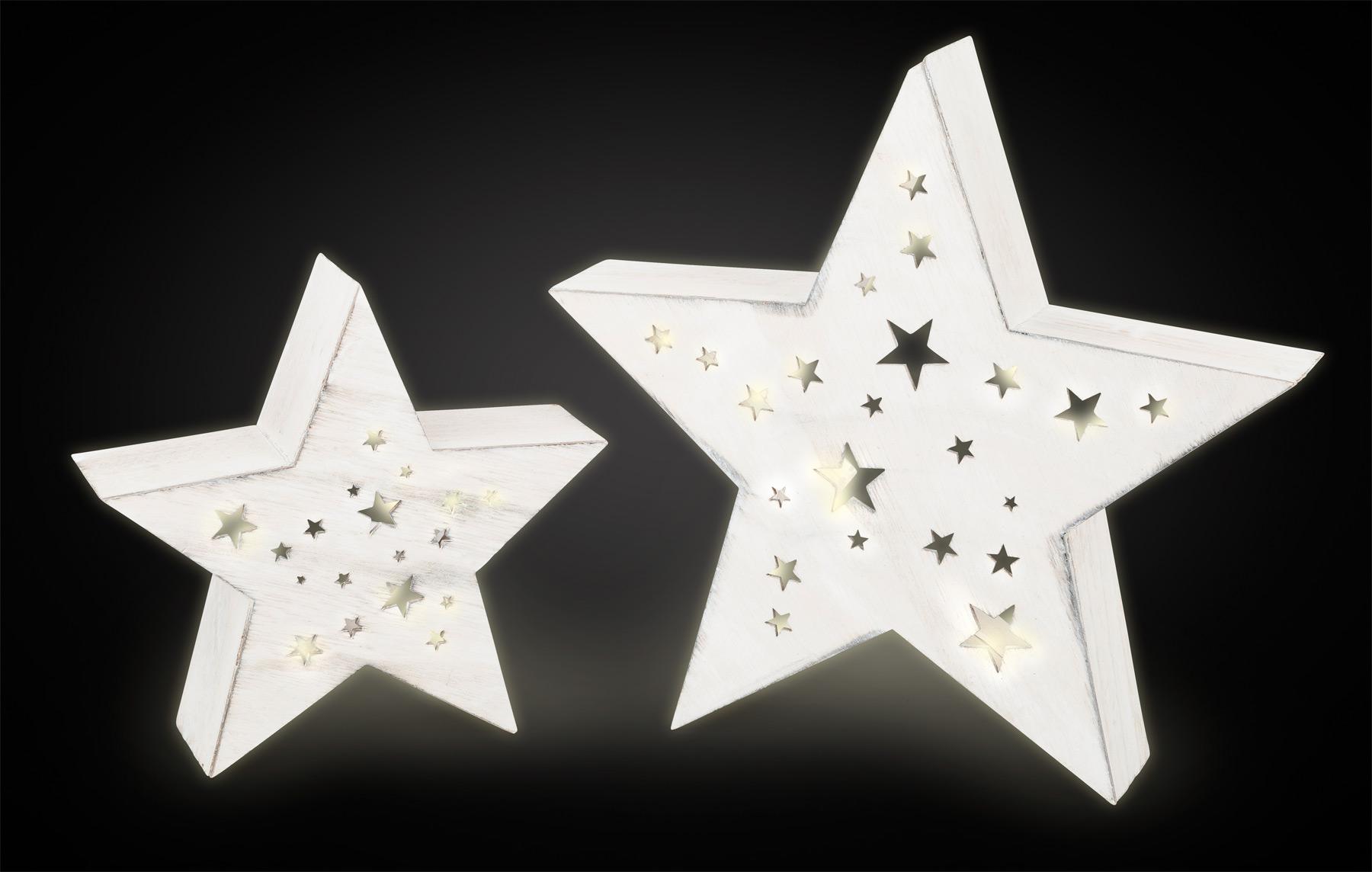 Small Foot Dřevěné svítící hvězdy Night sky 2ks