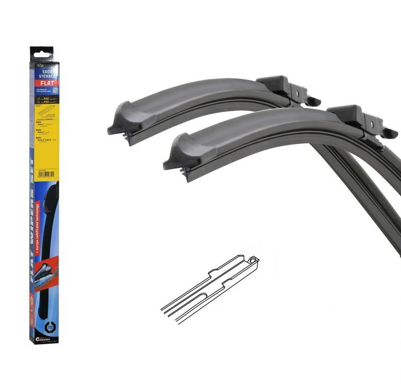 Stěrače FLAT SET (SLOT) 550 + 450mm