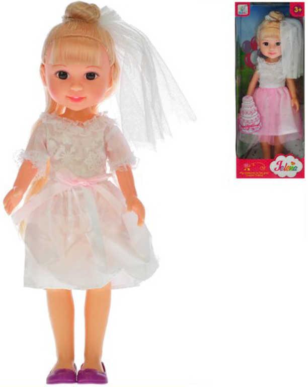 Panenka Jelena nevěsta 31 cm svatební šaty se závojem - 2 barvy
