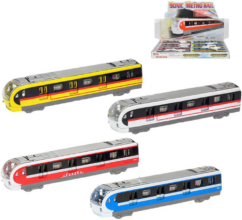 Metro na baterie 18,5cm městská doprava - 4 barvy