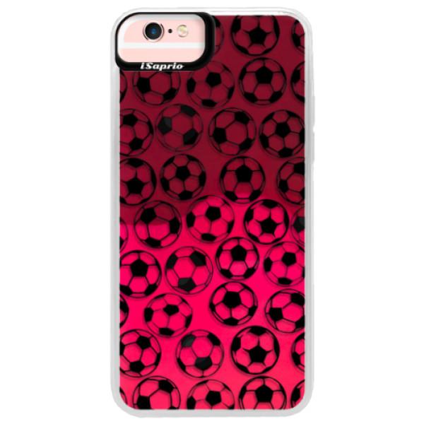 Neonové pouzdro Pink iSaprio - Football pattern - black - iPhone 6 Plus/6S Plus