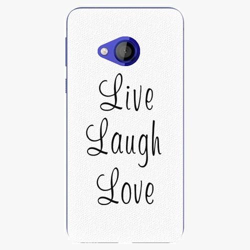 Plastový kryt iSaprio - Live Laugh Love - HTC U Play